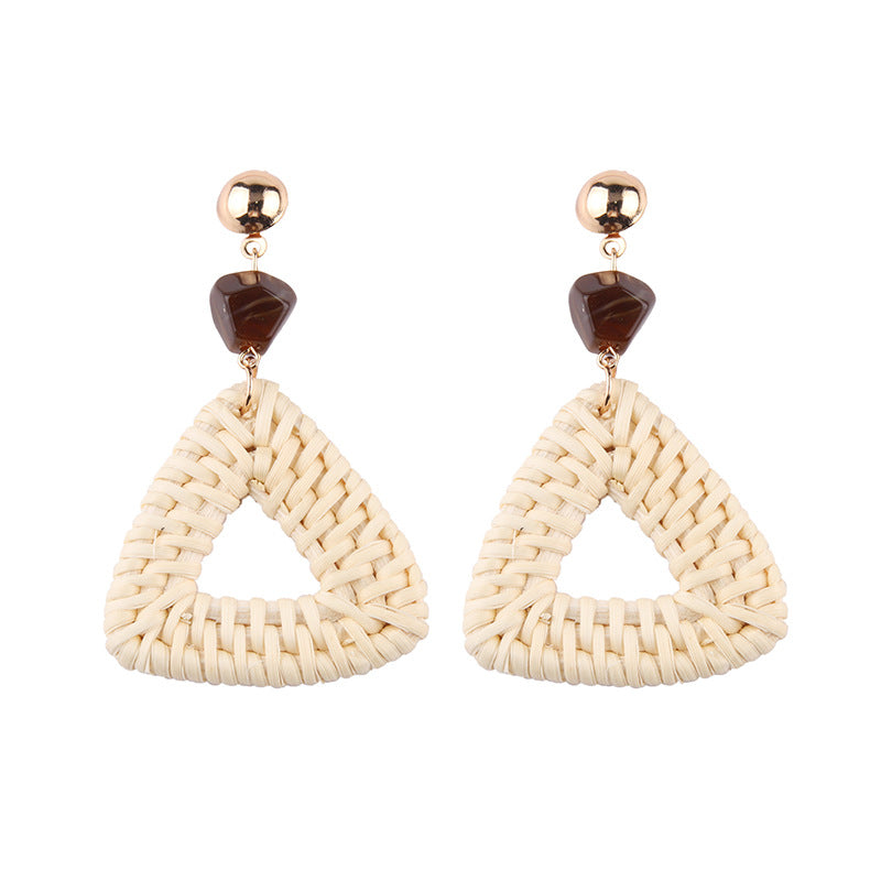 Love Triangle Bamboo Earrings