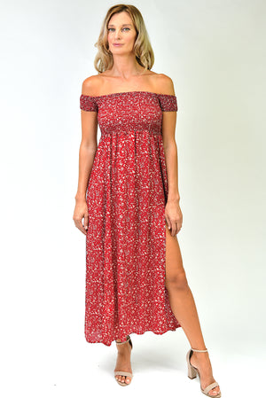 Leyla Maxi Dress - Red