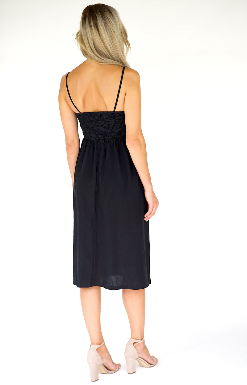 Penelope Midi Dress - Black