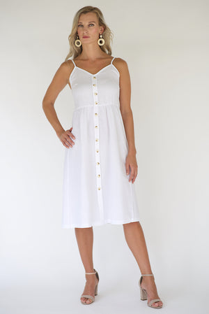 Penelope Midi Dress - White