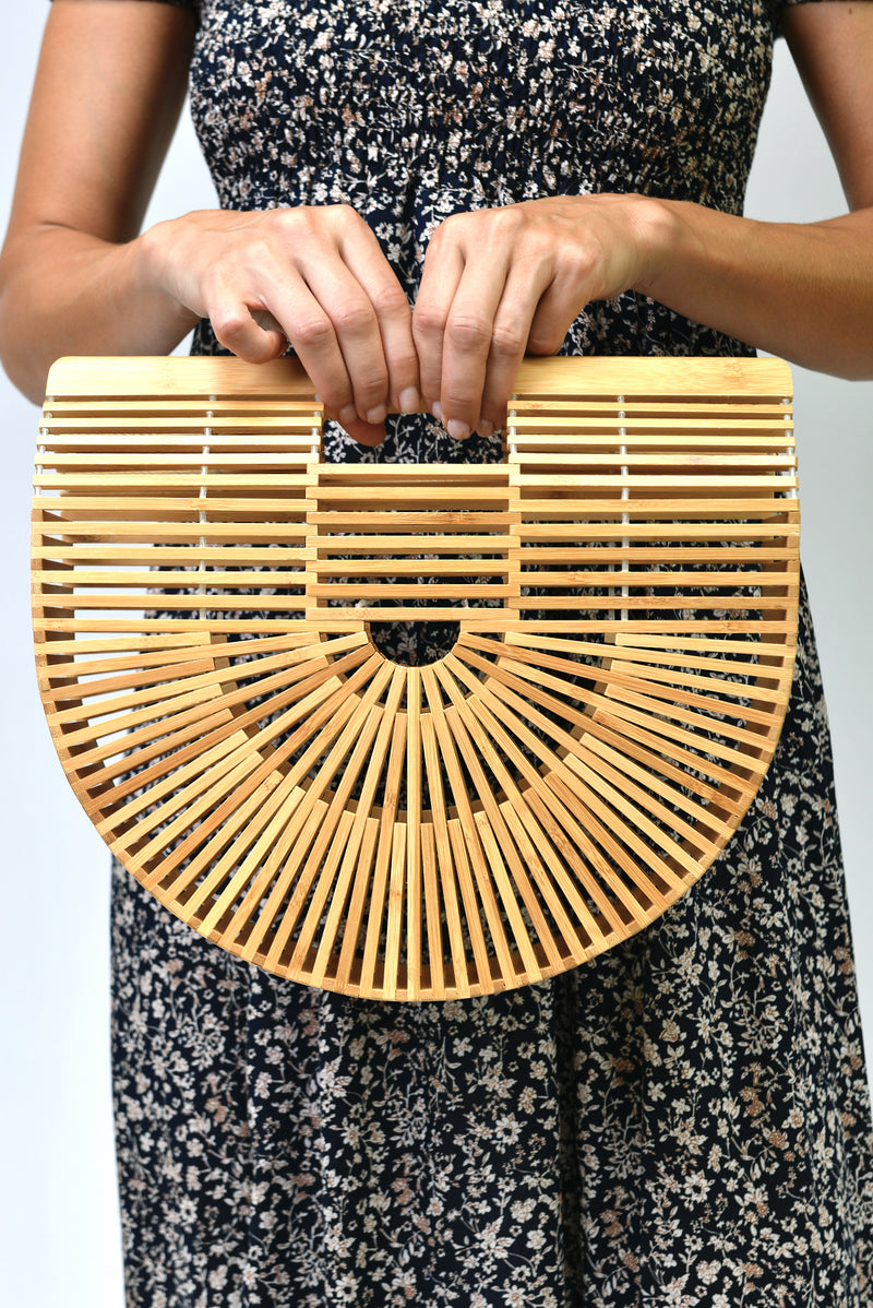 Large Bamboo Bag in Tan