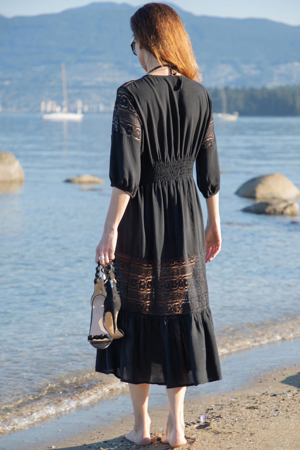 Gaia Beach Dress - Black