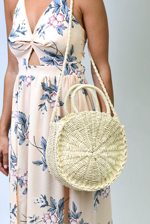 Valletta Straw Round Bag