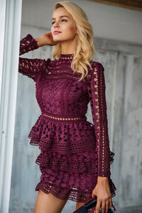 Emma Dress Burgundy