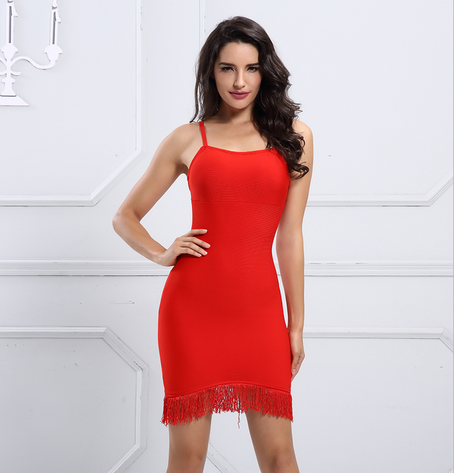Flare Dress Red