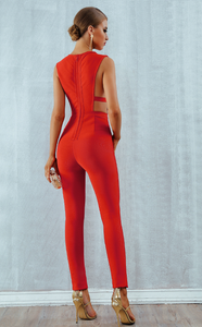 Skye Jumpsuit Pink - Overnight Shipping