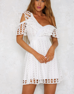 No Doubts Dress White