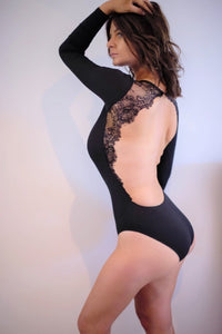 Surprise Me Bodysuit Black
