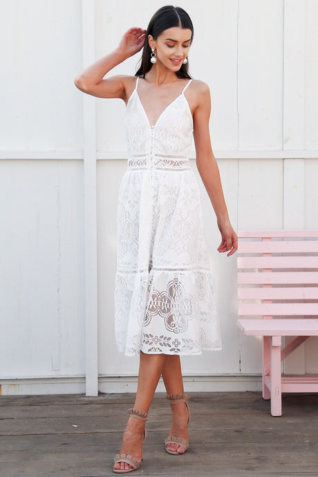 Lace Dream Dress White