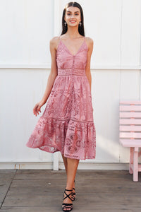 Lace Dream Dress Pink