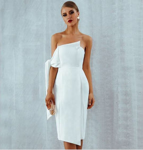 Sydney Dress White - Overnight Shipping