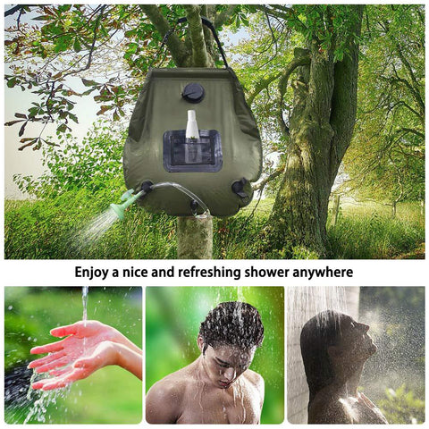 Solar Heated Portable Camping Shower
