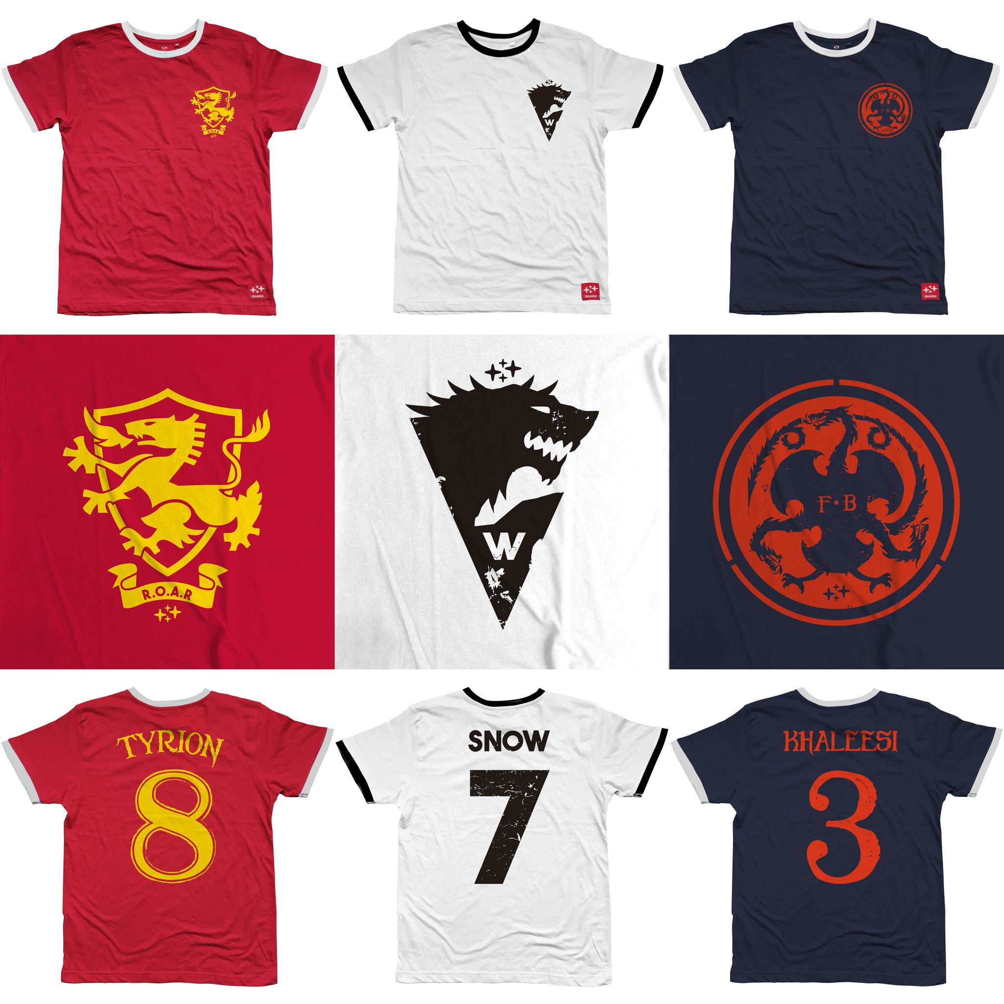 game of thrones football t-shirt by suxinsu