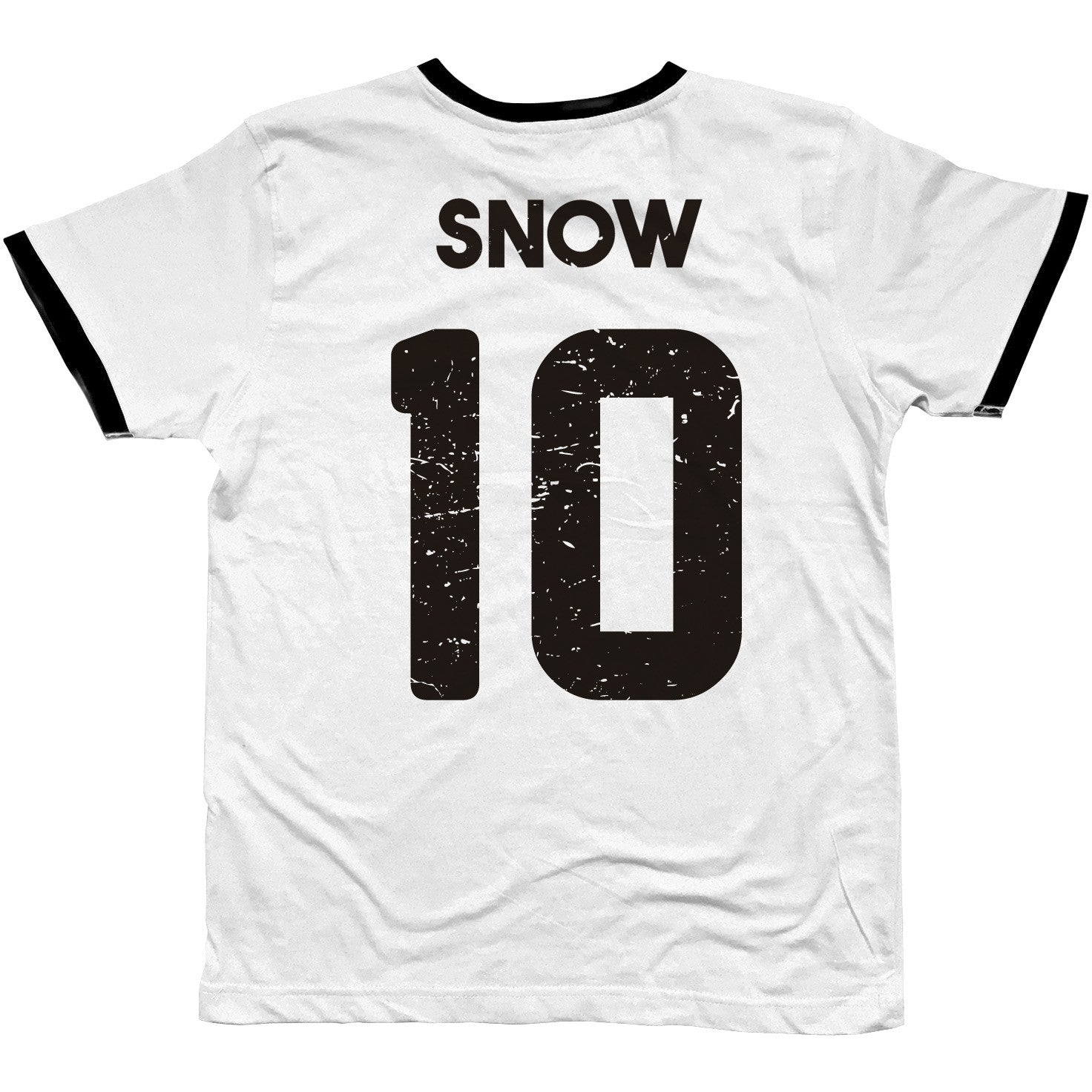 stark game of thrones snow football t-shirt by suxinsu