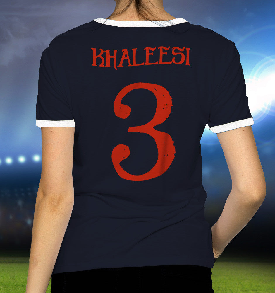 targaryen game of thrones daenerys kahleesi football t-shirt by suxinsu