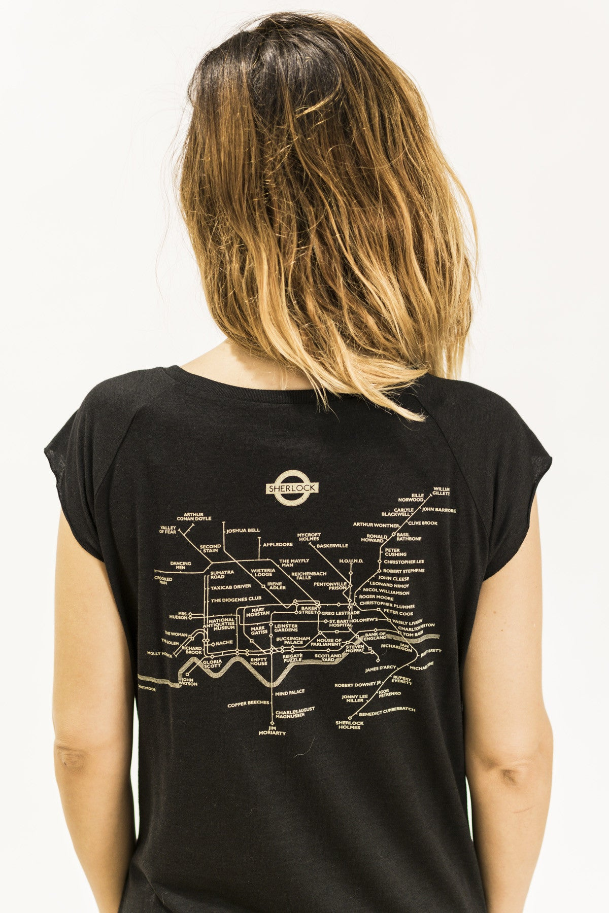 sherlock london tube tshirt by suxinsu