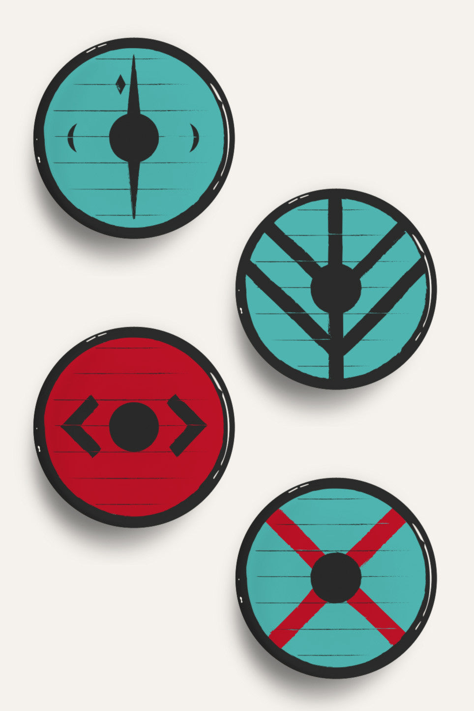 Vikings shields badges by Suxinsu