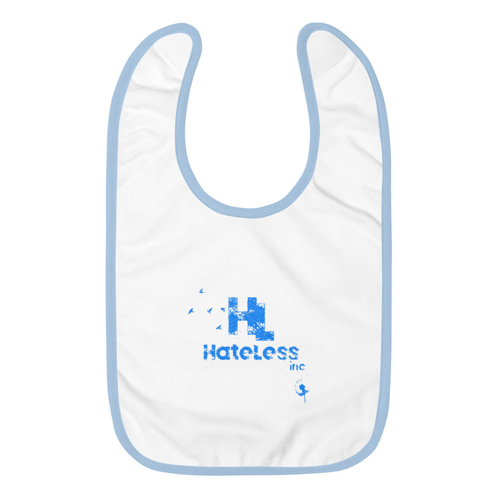 HateLess Embroidered Baby Bib