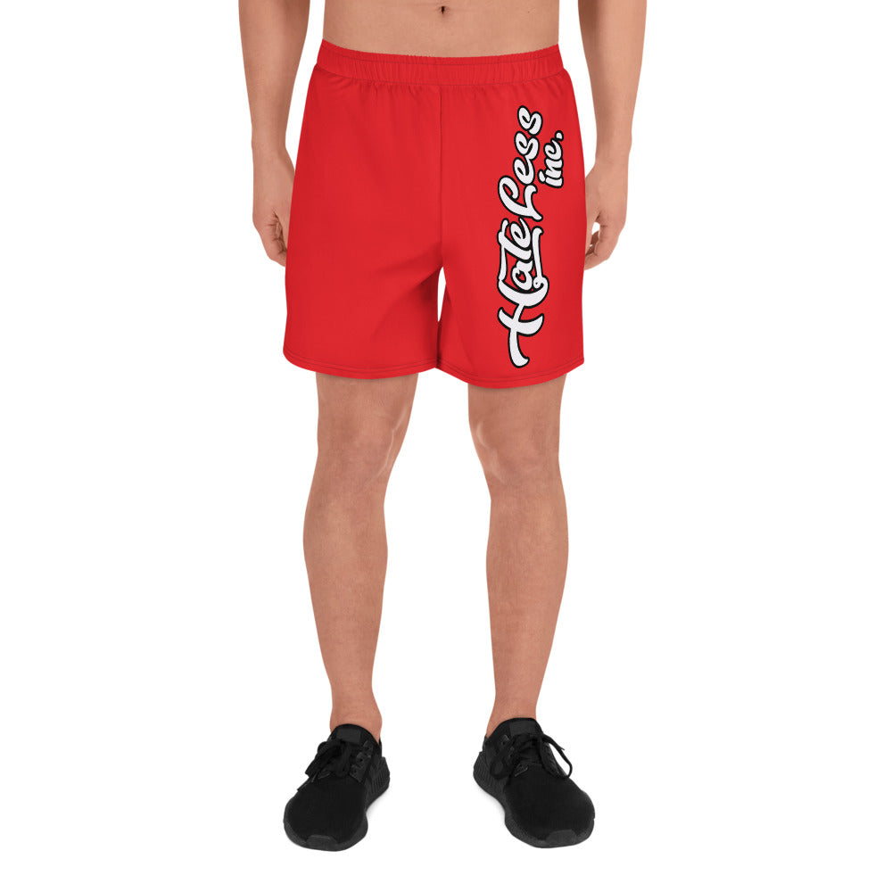 HateLess All Love Men's Athletic Long Shorts
