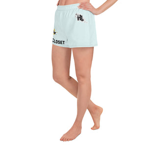HateLess All-Over Print Women's Athletic Short Shorts