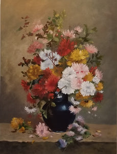 After Cauchois Vase of Mums