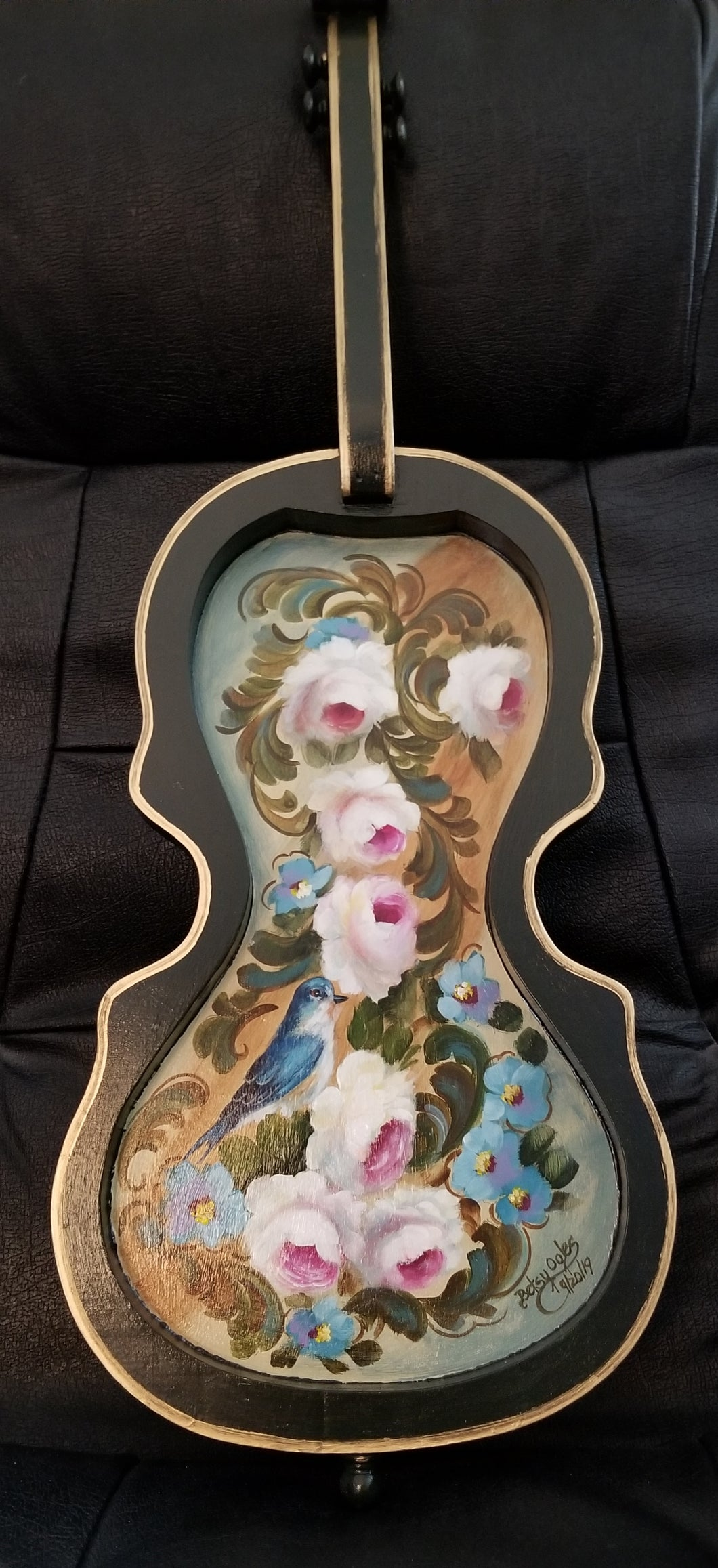 Decorated Violin Shape