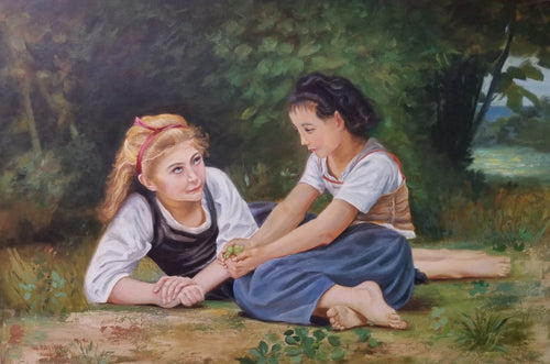 After Bouguereau, The Nut Gatherers