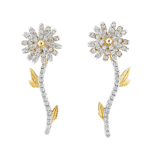 Lab-Grown Mini Daisy Diamond Earrings