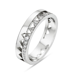 White Gold Half Diamond Capture Me Band Ring