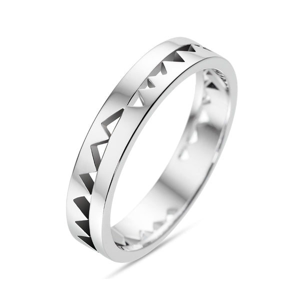 White Gold Capture Me Band Ring