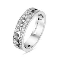 White Gold Full Diamond Capture Me Band Ring