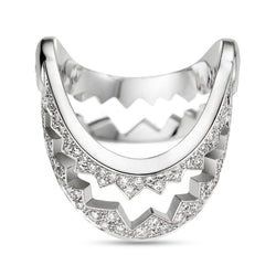 White Gold Full Diamond Capture Me V Ring