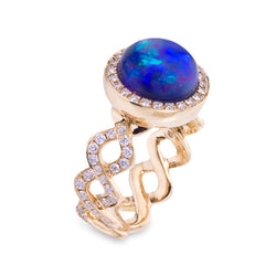 Katherine Jetter Opal & Diamond Twisting Vine Ring