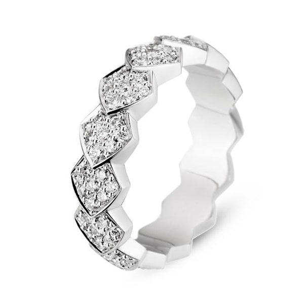 White Gold Diamond Python Ring