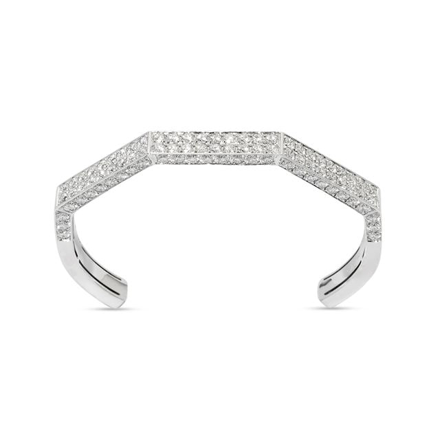 Deux Diamond Pave Hexagon Cuff