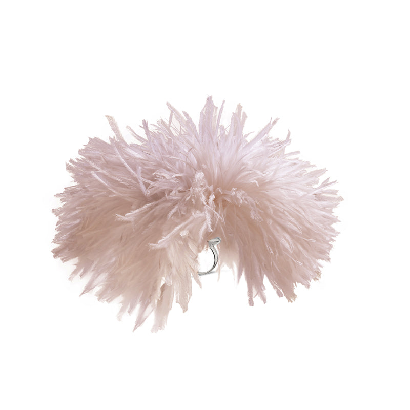 Ostrich Pleasure Puff Ring in Ostrich Feathers
