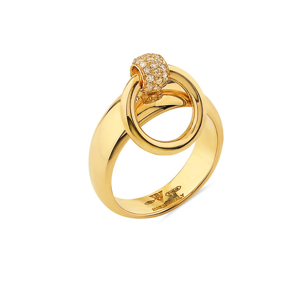 Mini Gold & Diamond Pav̩e Sado-Chic O-Ring