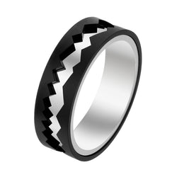 Black Titanium & White Gold Capture In Motion Rolling Ring