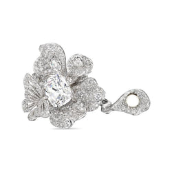 Lab-Grown Diamond Peony Butterfly Ring