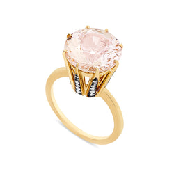 Morganite Crown Ring