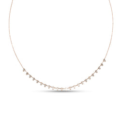 Baguette Diamond & 18K Yellow Gold Short Necklace
