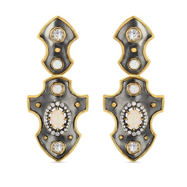 Blason Opal Earrings