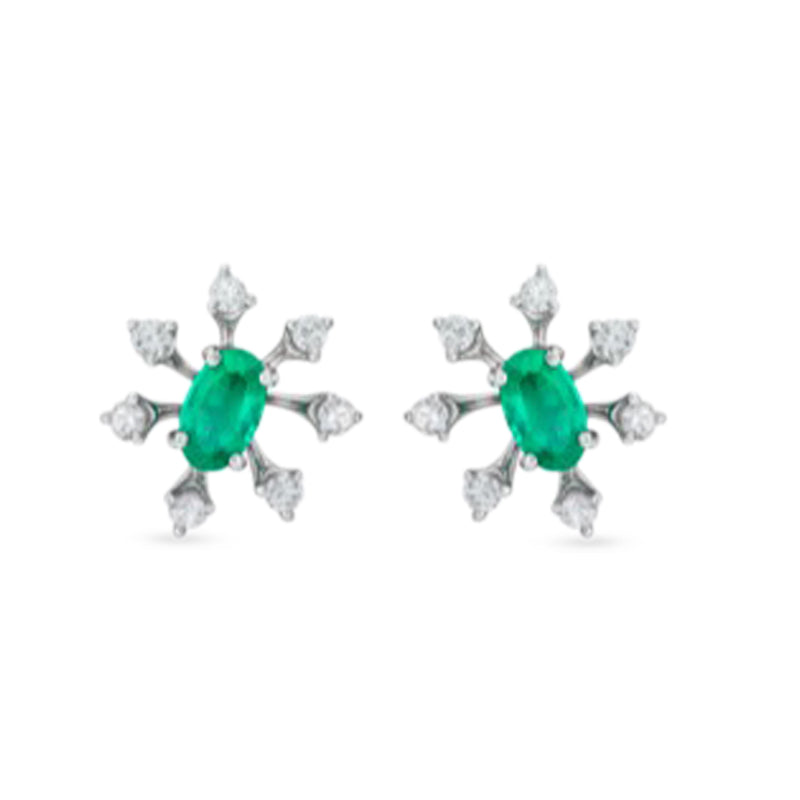 Luminus Emerald Stud Earring