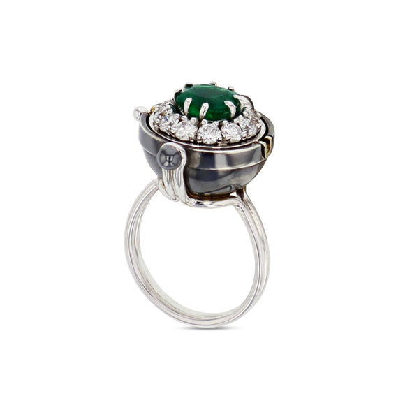 Emerald Sphere Ring