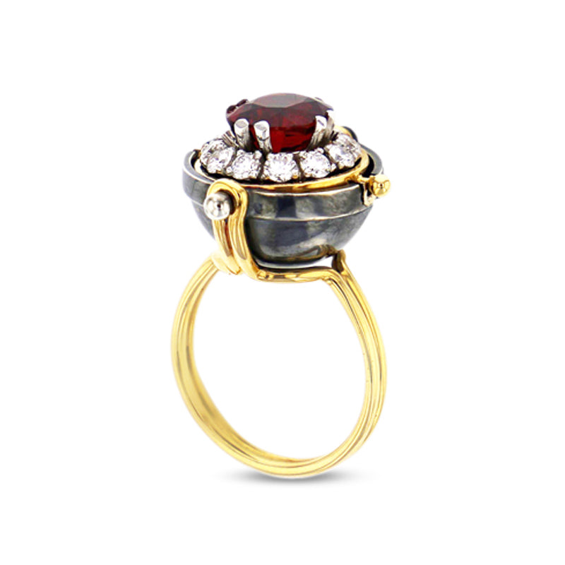 Spinel Sphere Ring