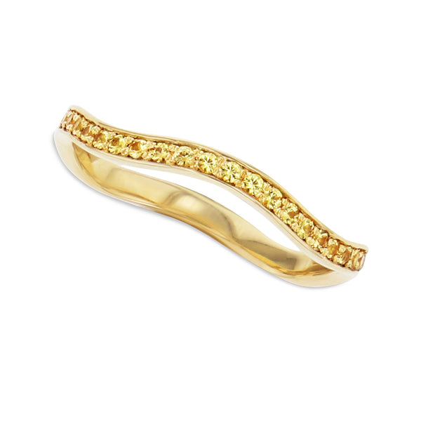 Yellow Sapphire Stylet Ring