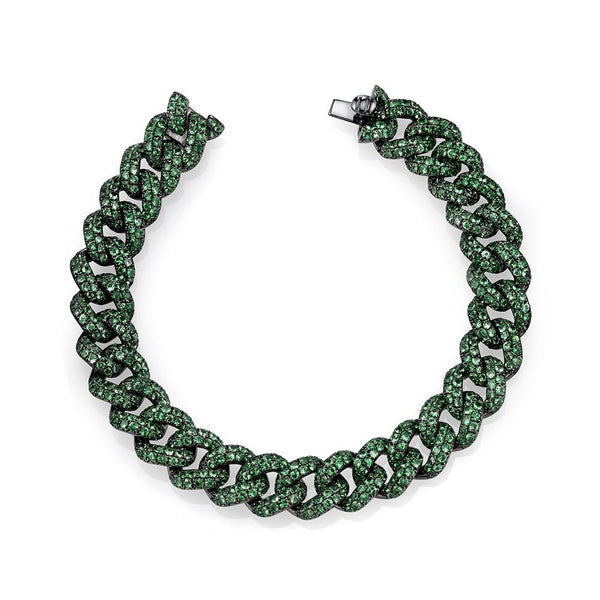 Emerald Essential Gemstone Link Bracelet