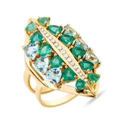 Galactic Electra Emerald Ring