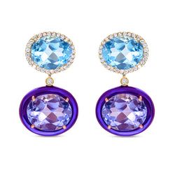 Class Topaz & Amethyst Earrings