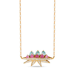 Pink Tourmaline Electra Necklace